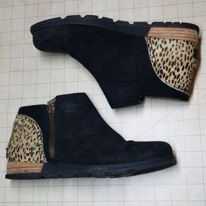 Sorel Major Low Horsehair Cheetah Booties 8